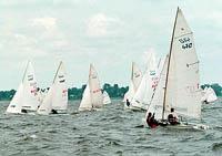 VI Petersburg sailing week has started from coast of Neva.