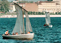 Sailing boat trips to historical places on the theshold of 300-anniversary .