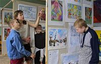The exhibition of works of young artists from Russia and Bulgaria
