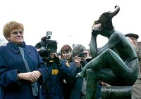 The park of modern sculpture was opened in Saint-Petersburg