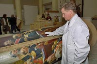 Ilya Repin's painting arrived from St. Petersburg in Moscow