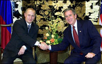 Presidents Putin and Bush to Meet in Tsarskoye Selo Near St. Petersburg, November 22