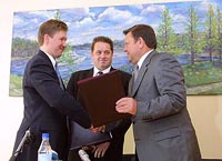 A.Miller and V.Serdjukov have begun realization of the North-European gas pipe line