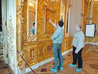 Amber Room is still being restored