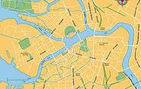 Map of Saint-Petersburg