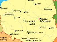 The map of Poland