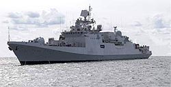 The Baltiysky factory in St. Petersburg delivered the frigate Talvar to the Indian Navy