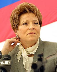 Presidential representative of the Russian Government Valentina Matvienko