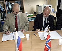 "The Opening of Russia Norwegian Laboratory named in honour of the Legendary Norwegian Craft ""Fram"""