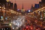 Nevsky Prospect illuminated