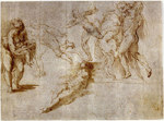 The drawing by Parmigianino