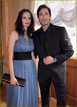 Adrien Brody: St. Petersburg with Eva Green!