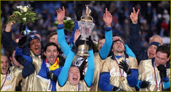FC Zenit St. Petersburg celebrate winning the Russian Football League Championship