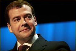 Russia's President Dmitry Medvedev
