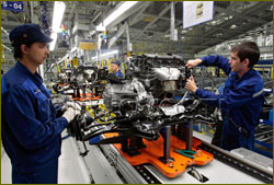 Hyundai's plant in St Petersburg Russia