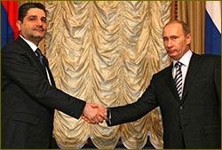 Armenian and Russian PMs Tigran Sargsyan and Vladimir Putin