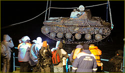 Russian WWII Tank raised in St. Petersburg