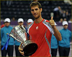 Klizan captures maiden tennis crown in St Petersburg