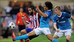 Atletico back with a win at Zenit,s expense