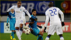 Mixed fortunes for Hulk in Zenit-Porto draw