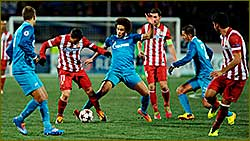 Zenit salvage home draw with Atltico