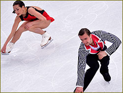 Stolbova and Klimov, pair skaters: silver in pairs figure skating