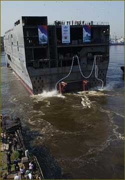 Baltic Shipyard ships second Mistral,s stern to France