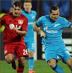 Son at the double for Leverkusen at Zenit
