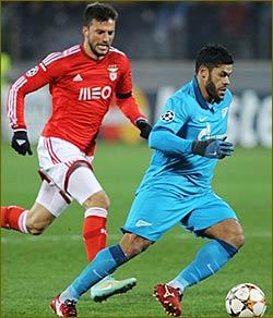 Zenit upbeat, Benfica downcast