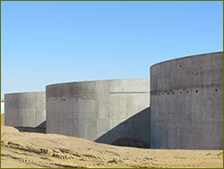 Tanks of water treatment plant installed at port Bronka