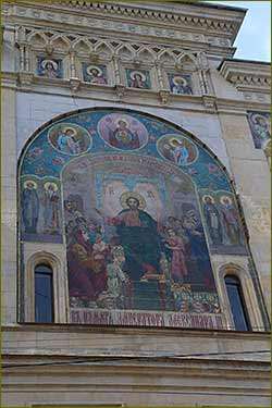 In St. Petersburg after restoration the historical mosaic panel is opened