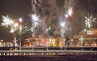 The ceremonies of MTS cellular network opening in St. Petersburg were finished with fireworks