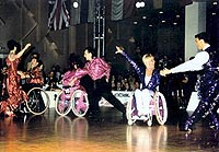 at the Wheelchair Dance Sport competitions