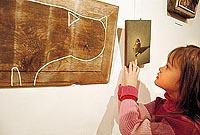 """at the exhibition """"Latvian Wood Miniature"""" in Valencia Gallery"""